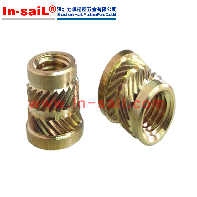 Pem Heat Staking Insert Metric IUTC-M2.5 Straight Wall Thru-Threaded