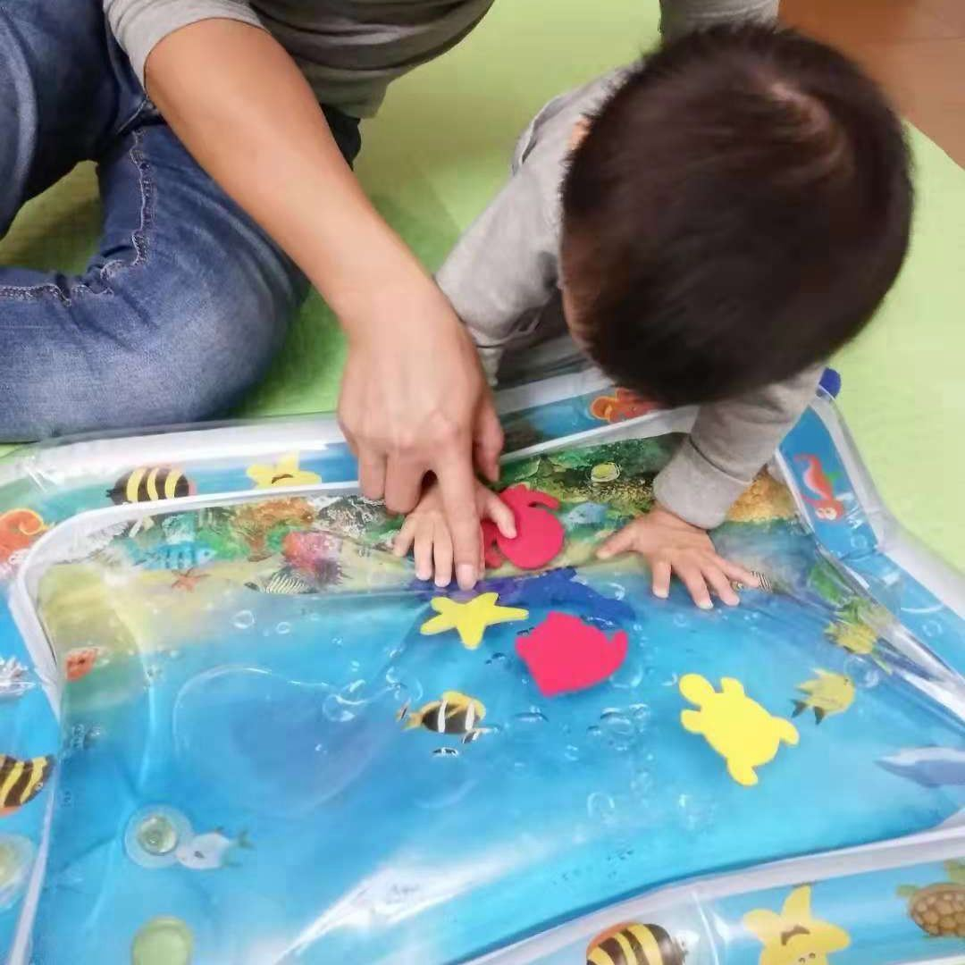 Inflatable Water Mat For Baby Infant Toddlers Mattress Splash Playmat Play Mat