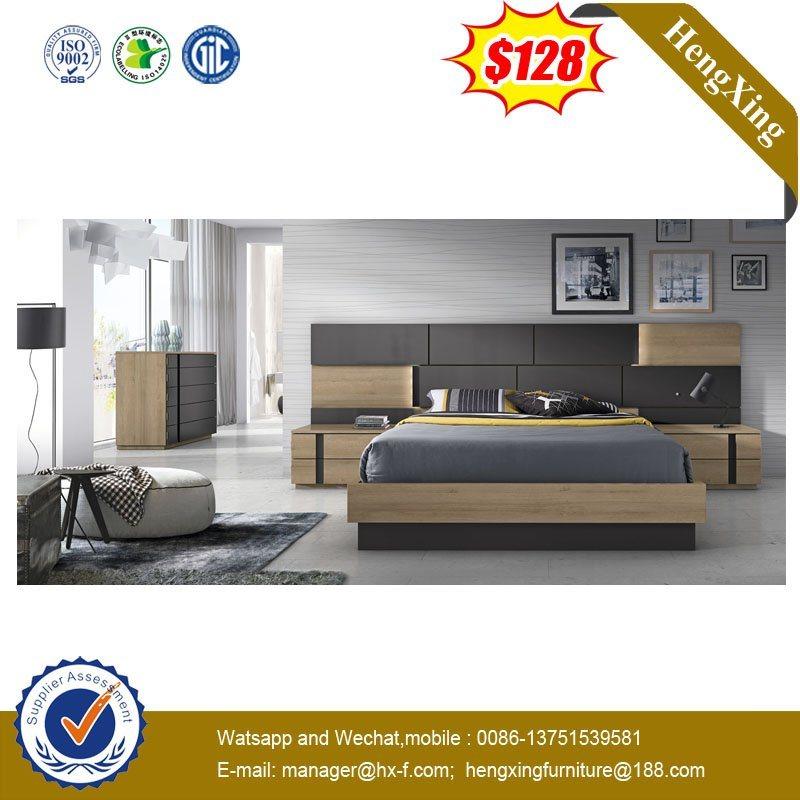 China Modern Bedroom Furniture Bedroom Set Hotel Wooden Double Bed China Double Bed Bedroom Furniture
