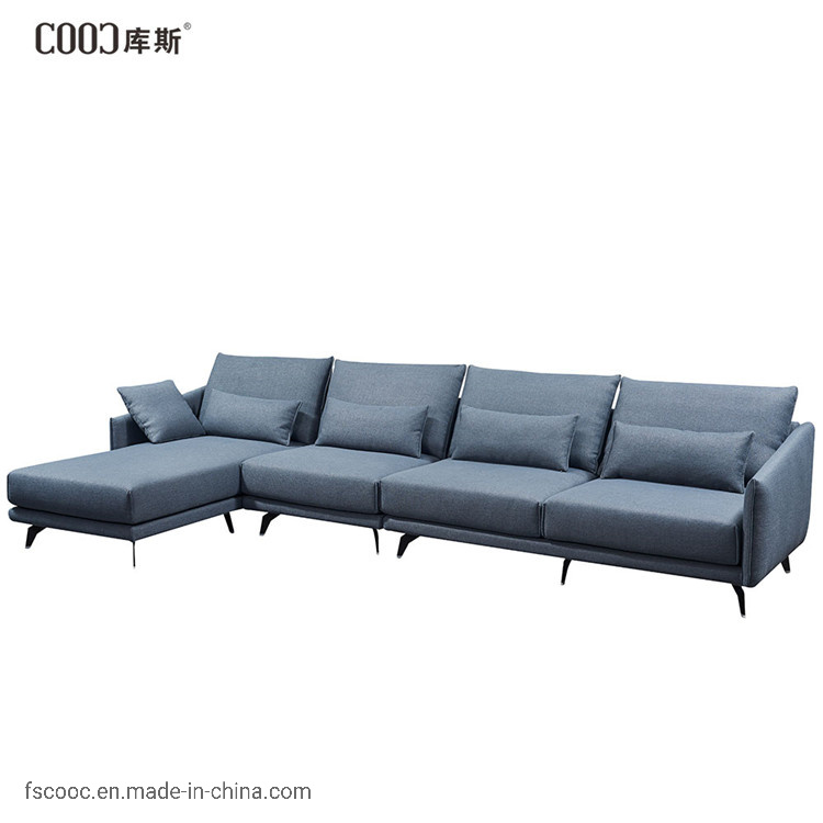 Luxury Fabric Sofa, Light Blue Furniture