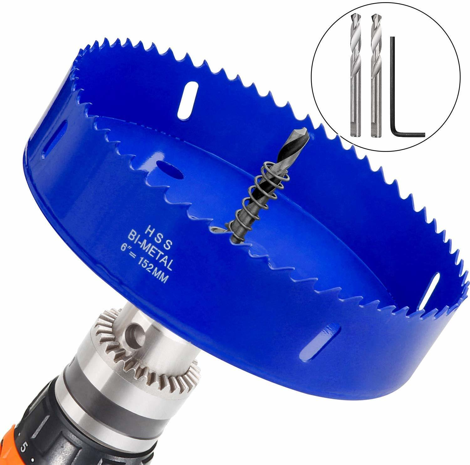6 Inch 150mm Hole Saw Tooth Kit Steel Drill Bit Set Cutter Tool For Wood Plastic