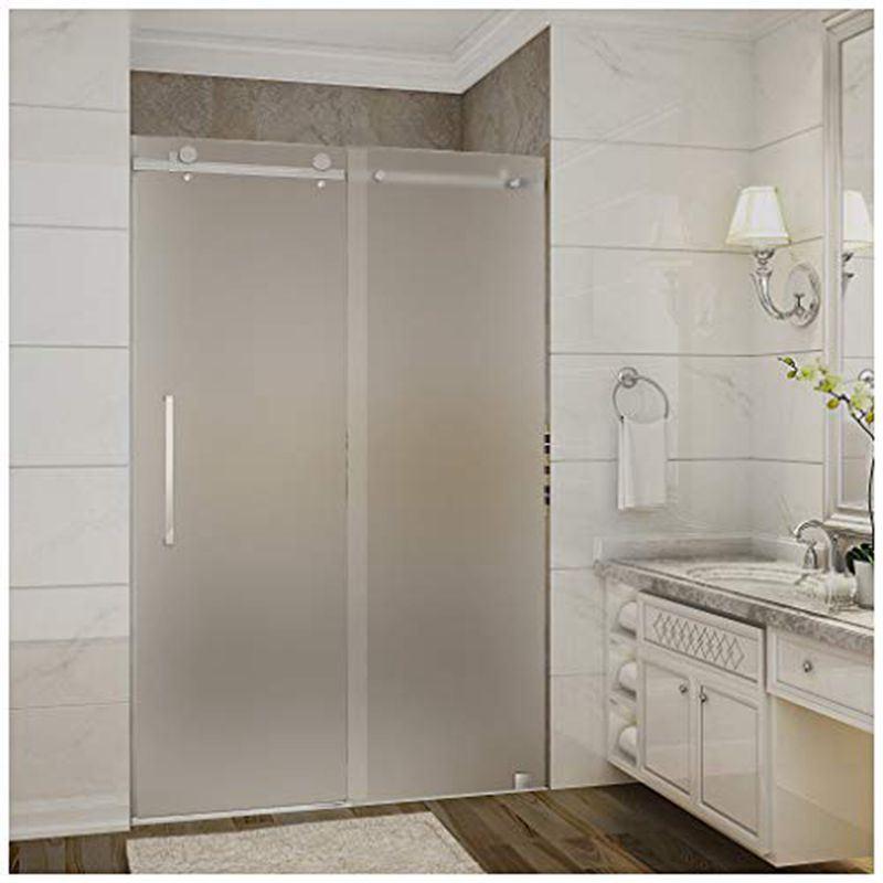 Frameless Frosted Gl Shower Door
