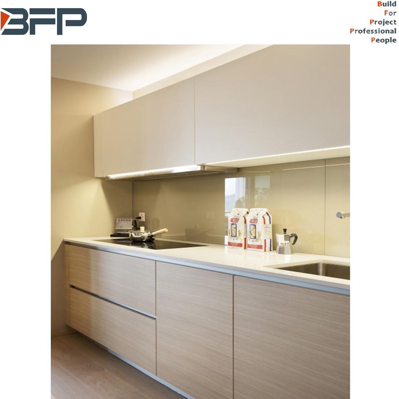 China Nice Design Wood Grain Melamine Home Furniture Kitchen Cabinets China Kitchen Cabinets Kitchen Furniture