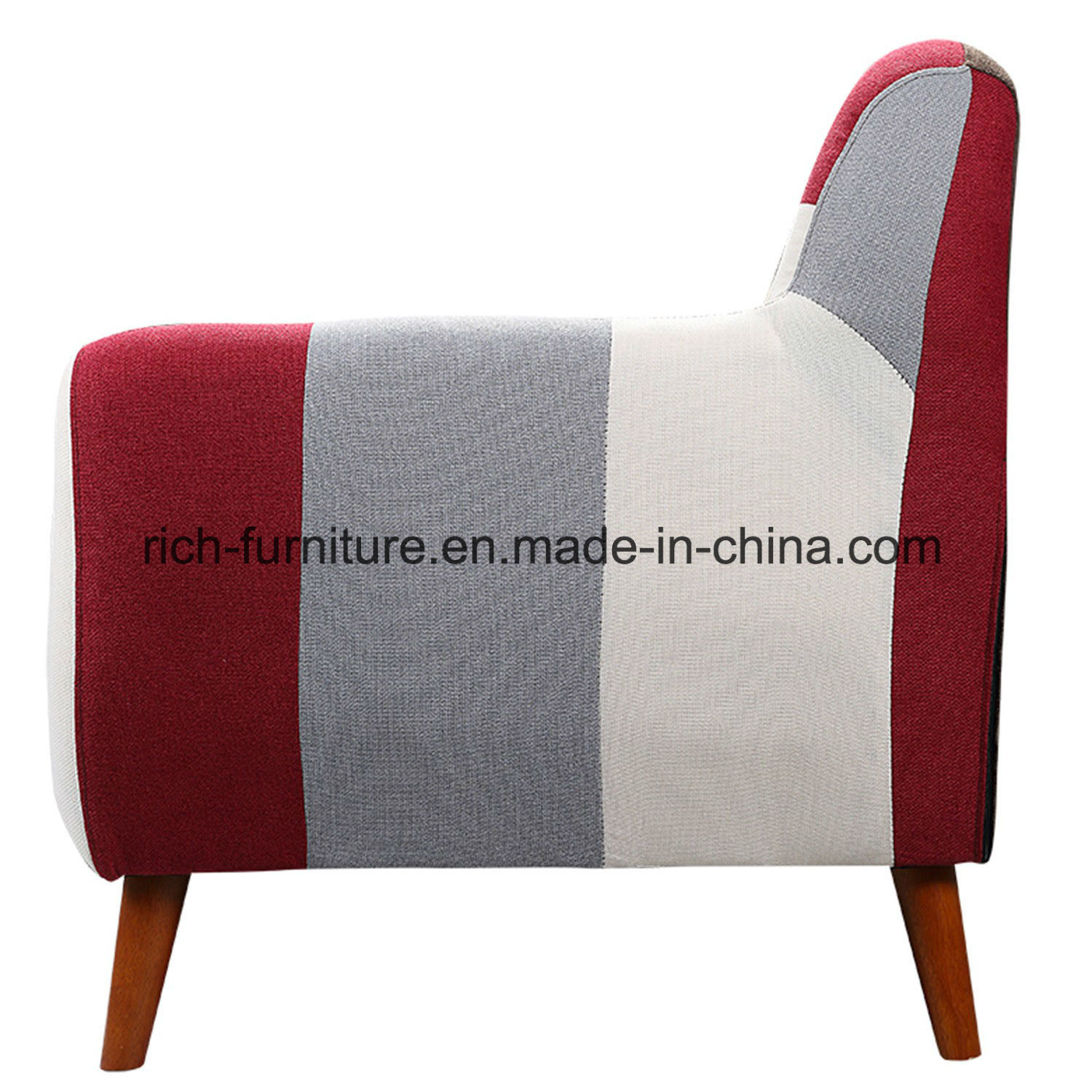 High Quality Italian Design Living Room Hotel Lobby Patchwork Modern Fabric Sofa pictures & photos