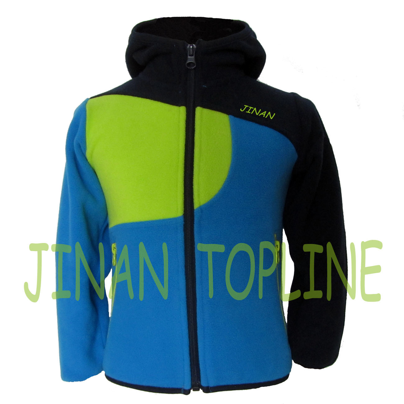 Children Stitching Colour Micro Fleece Leisure Jacket
