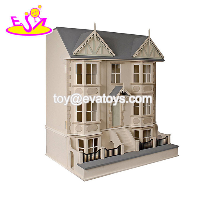 China New Design Miniature Wooden Victorian Dollhouse Kit For