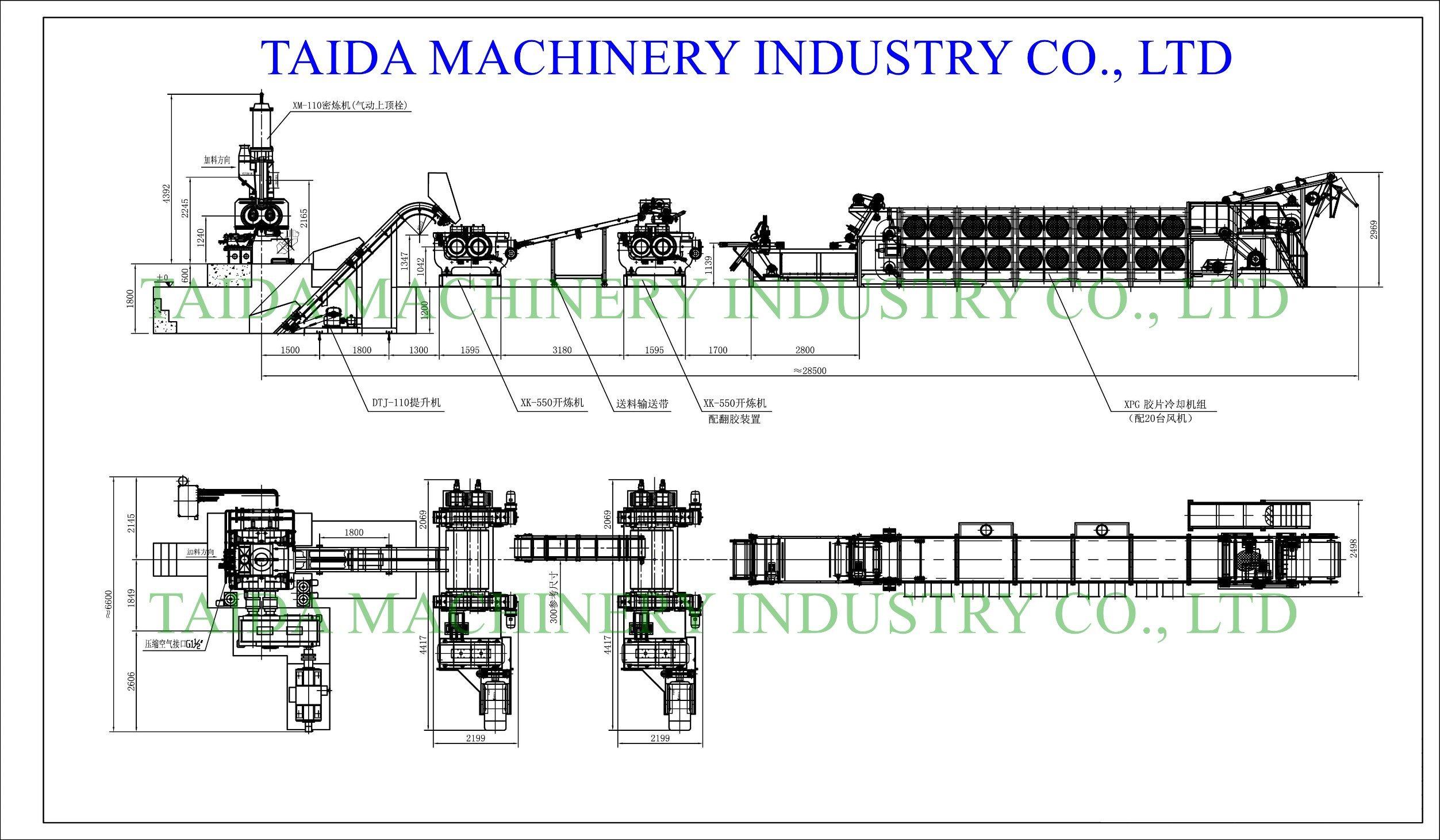 China 110l Internal Mixer Rubber Compound Mixing