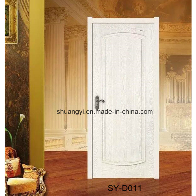 China Morden White Mdf Wooden Bedroom Pvc Door With Glass Photos