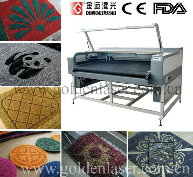 China Co2 Laser Cutting Engraving Machine For Carpet Floor