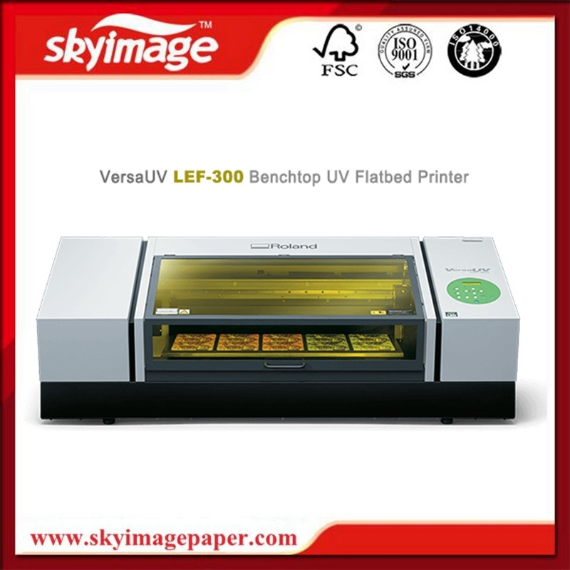 Economic Roland Lef-300 Leading Benchtop UV-LED Flatbed Printer pictures & photos