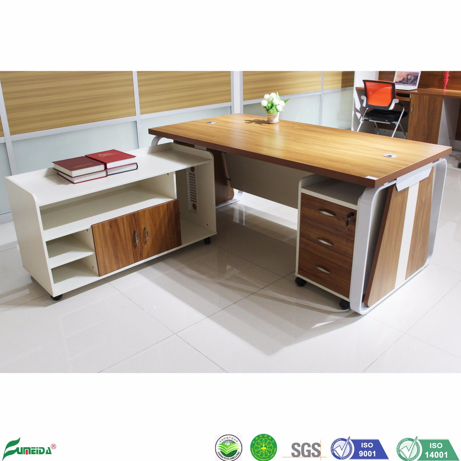 China Office Furniture Gold Teak