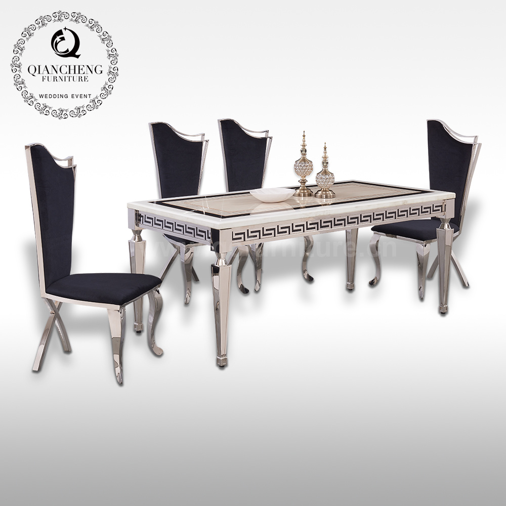 China Home Furniture Dining Room Furniture Marble Dining Table Sets 6 Seat Dining Table And Chair China Marble Dining Table Dining Room Furniture