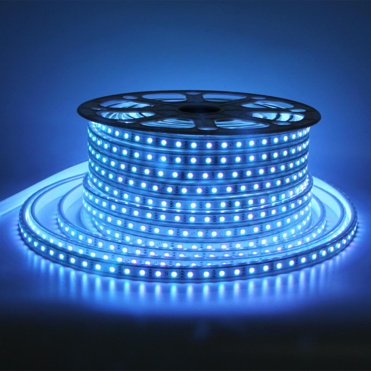 Image of: China Rgb Led Strip Lights 5050 Ac220v Ac110v 50m 100m Multicolor Flexible Roll Ip65 Outdoor Waterproof Rgb Multicolor Led Light Strips China Car Led Rgb Led Strip