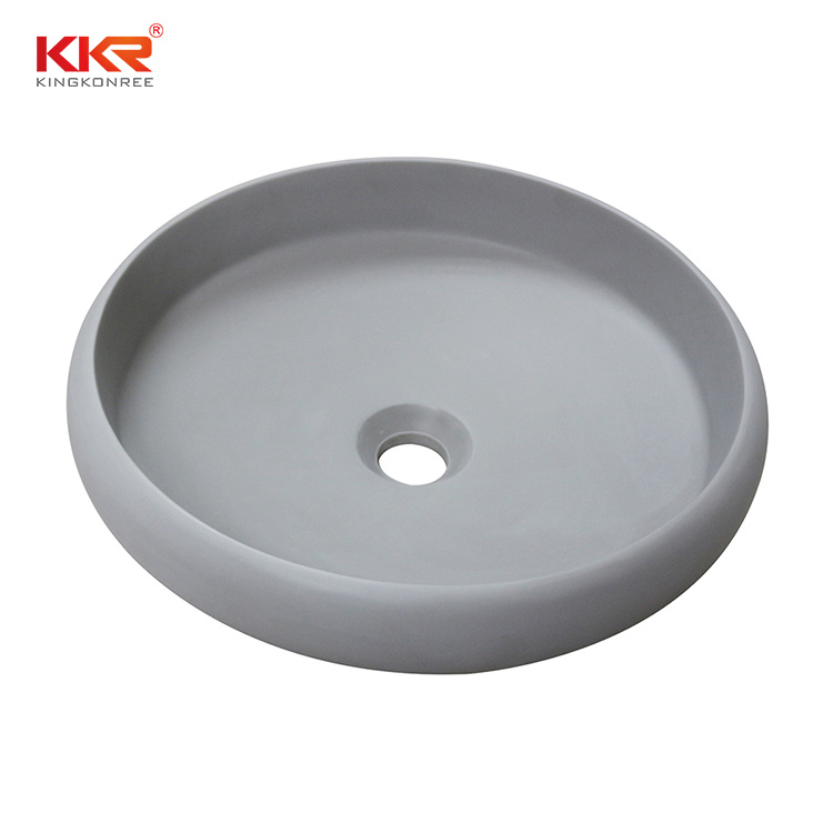 Kkr Small Matte Gray Solid Surface