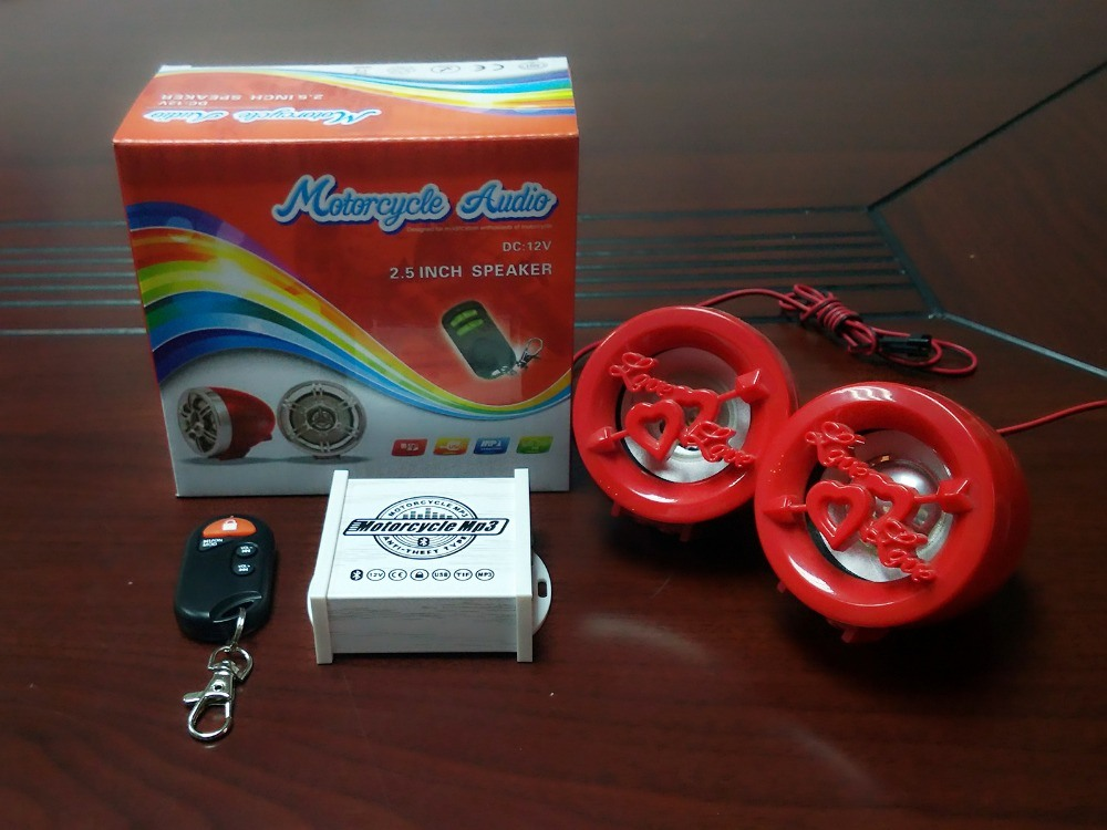 Mini Cheap Price Motorcycle MP3 USB SD FM Radio Motorcycle Alarm with Speaker