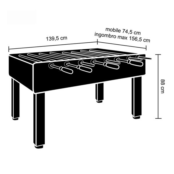 55 Inches Professional Table Foosball/140cm Foosball Table