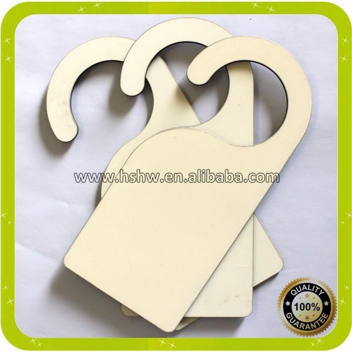 Hot Item Sublimation Door Hanger Sign Mdf Blank Wooden Dye Heat Press