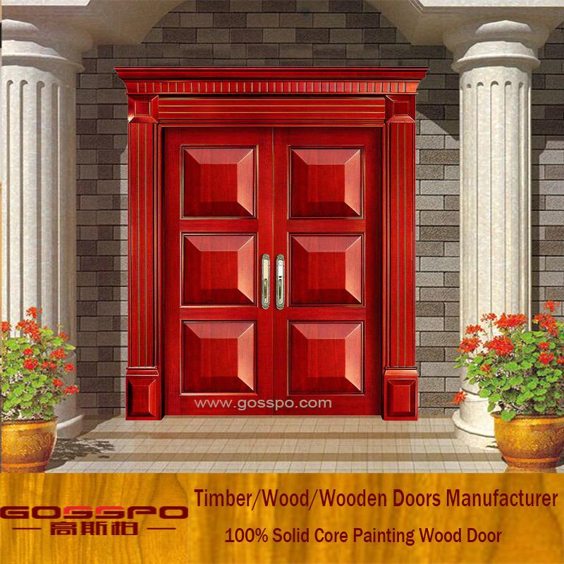 China Front Entrance Door Simple Exterior Wood Door Xs1 024