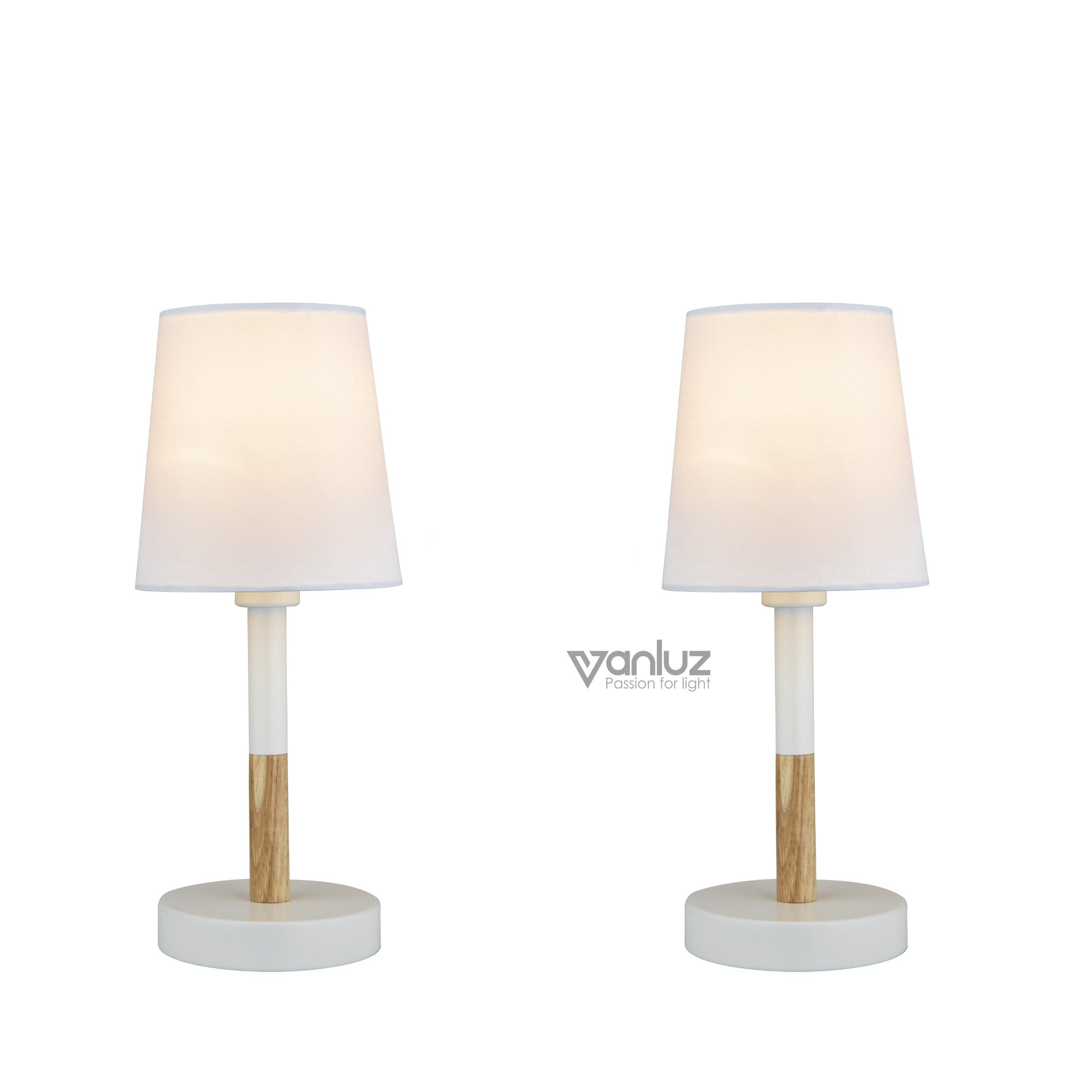Hot Item Usb Desk Lamp E14 Bulb Minimalist Design Bedside Lamp Fabric Shade For Bedroom Living Study Room Class Ii Led Desk Lamp
