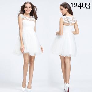 Exquisite White Lace Customize Size Flower Dress Fashion Whole Gorgeous Bridesmaid Dresses
