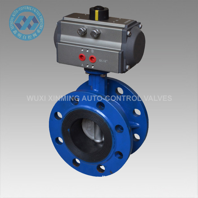 Water Butterfly Valve with Pneumatic Actuator pictures & photos
