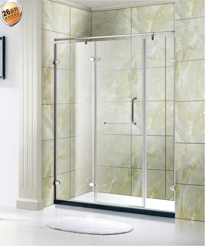 China European Style Frameless Toughened Glass Hinged Shower Screen ...