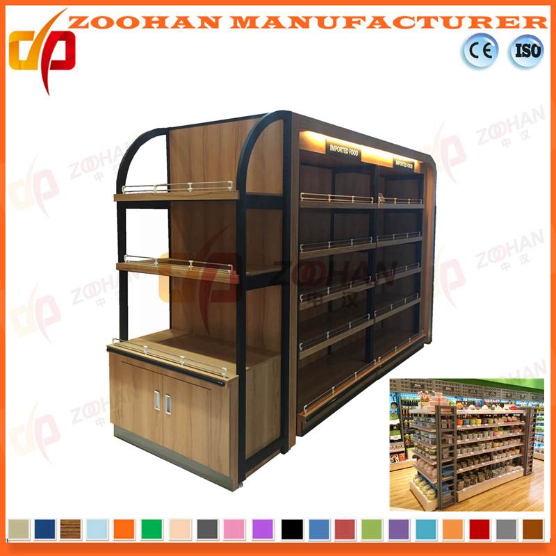 Hot Item New Customized Supermarket Shop Wooden Shelving Zhs265