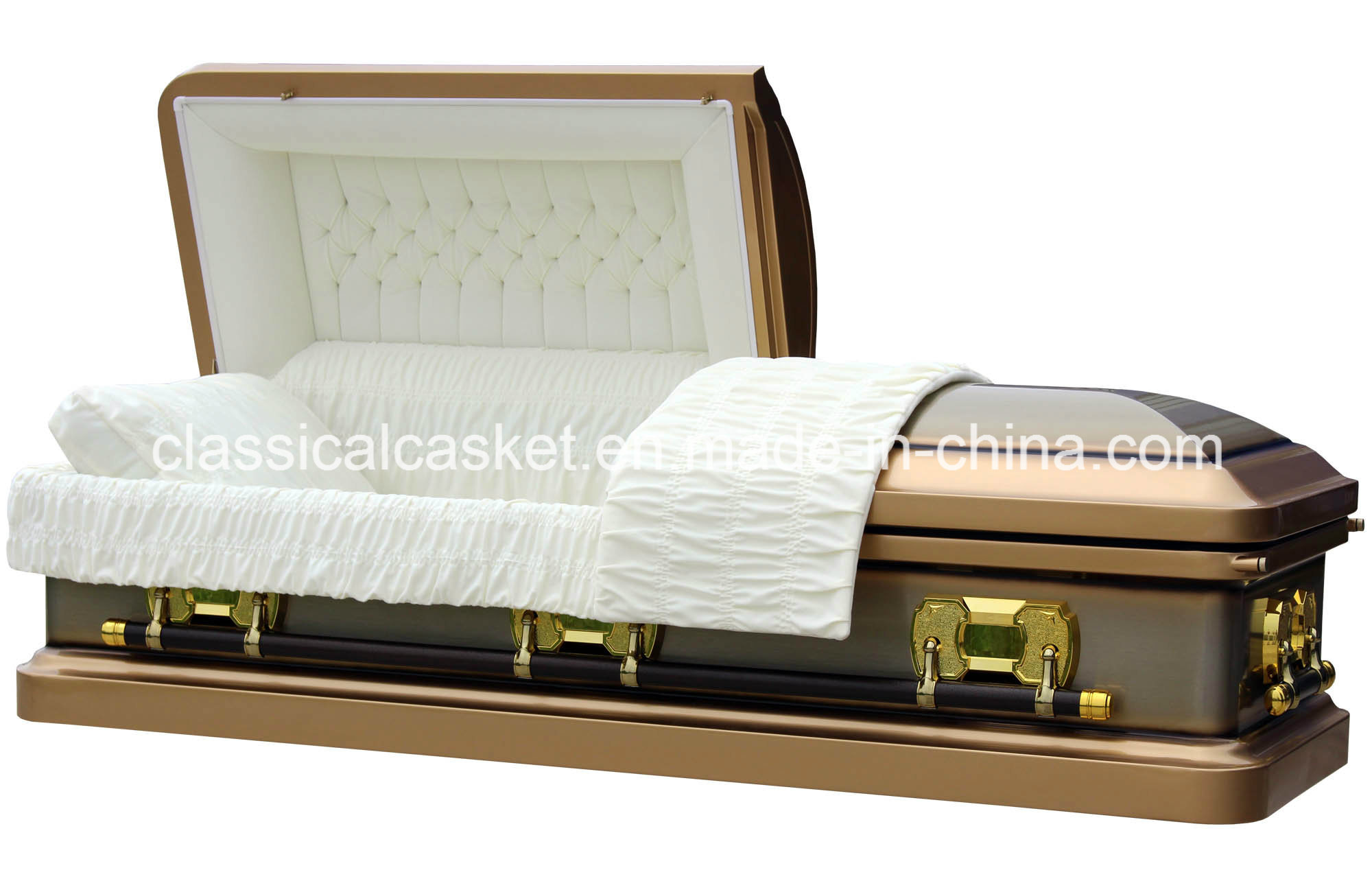 Tiger Eye 18ga Steel USA Casket