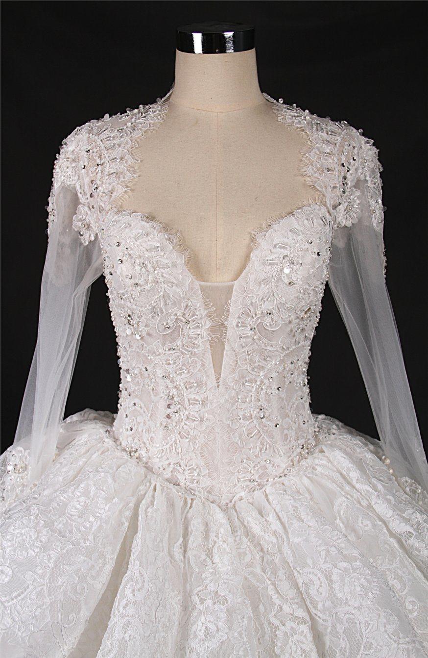 China Long Sleeve Ball Gown Muslim Bridal Gown Wedding Dress Lt7588 ...