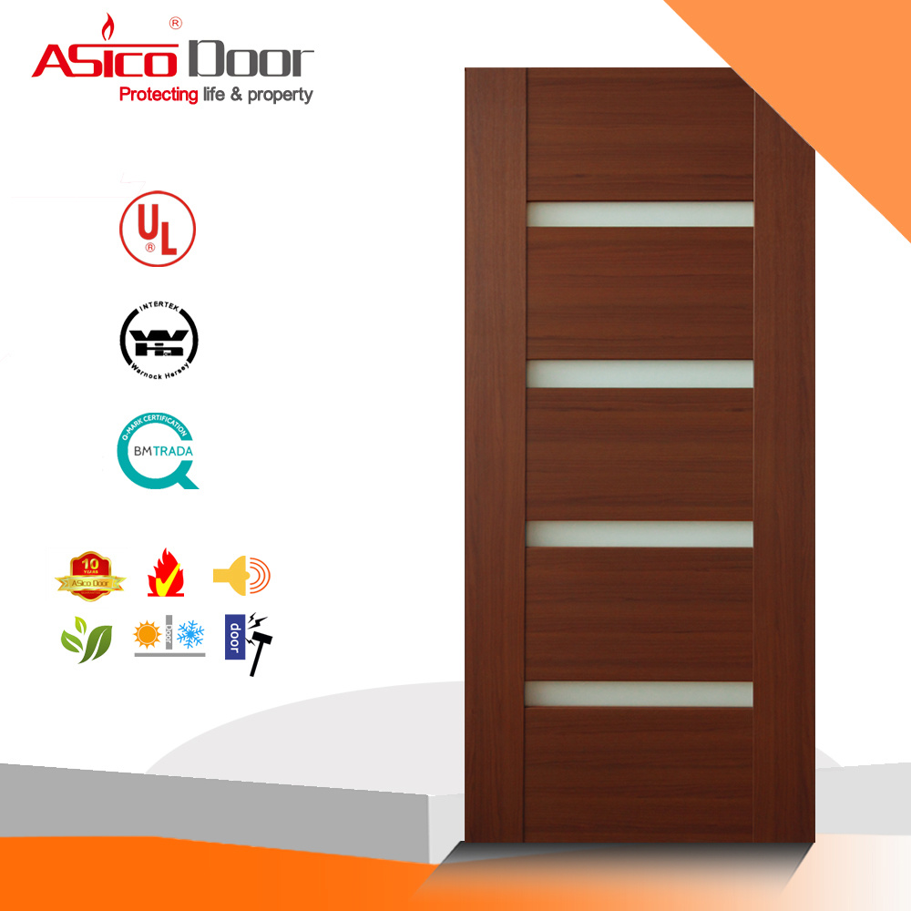 China Vision Panel Glass Meranti Solid Wood Door China Panel Door Interior Wood Door