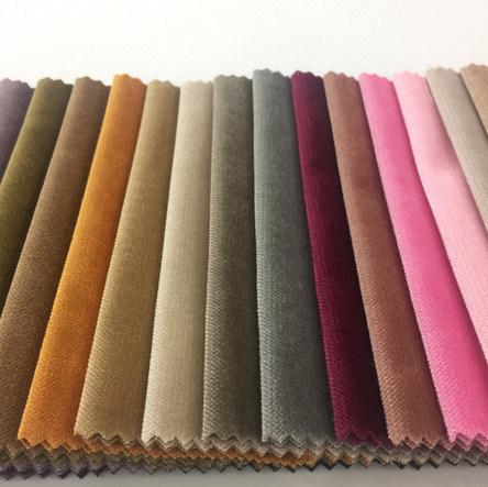 Plain Color Polyester Italian Velvet Knitted Fabric For Sofa Cover