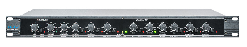 4 Way PRO Audio Stereo Active Crossover