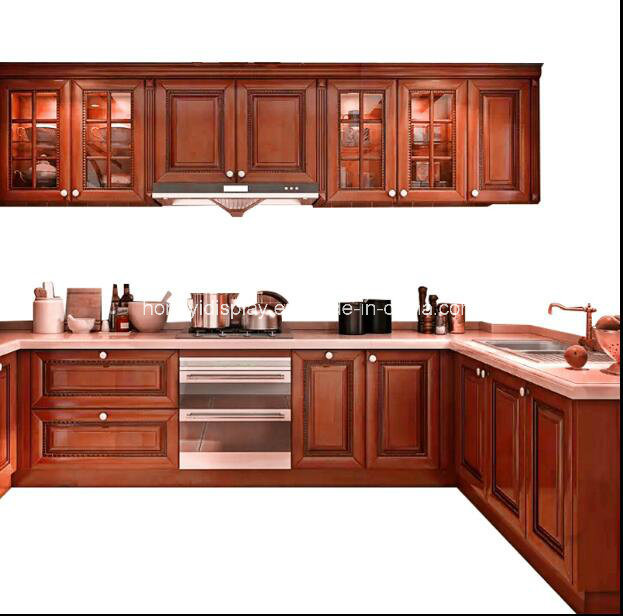 China Online Cabinets Solid Wood Foshan Custom Made Kitchen