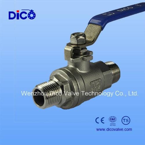 China Bsp/BSPP Thread 2 Pieces Ball Valve for Male Thread - China