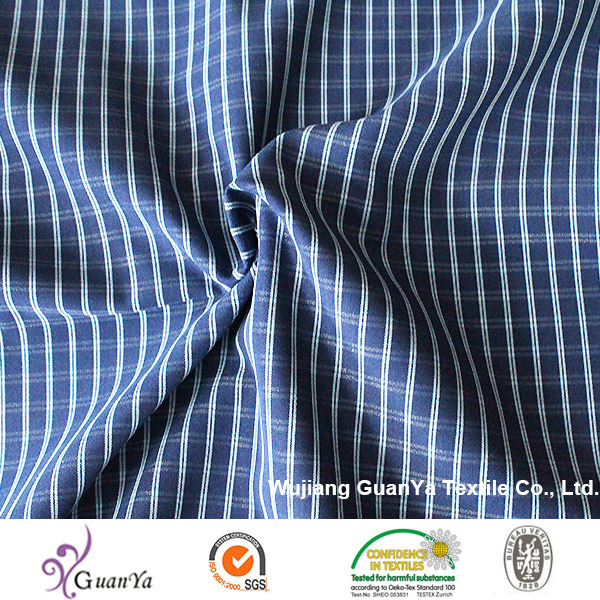 Indigo Cationic Yarn Dyed Fabric for Shirt pictures & photos
