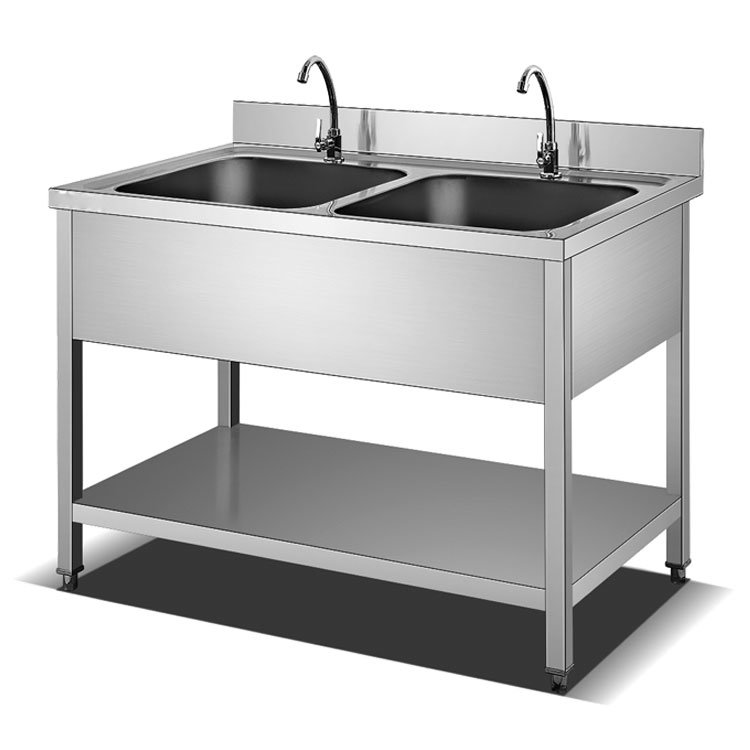 China 201 304 Customized Restaurant Double Bowl Stainless Steel Kitchen Sink Table Kitchen Sink Manufacturer Commercial Stainless Steel Double Bowl In Kuwait China Stainless Steel Sink Stamping Sink
