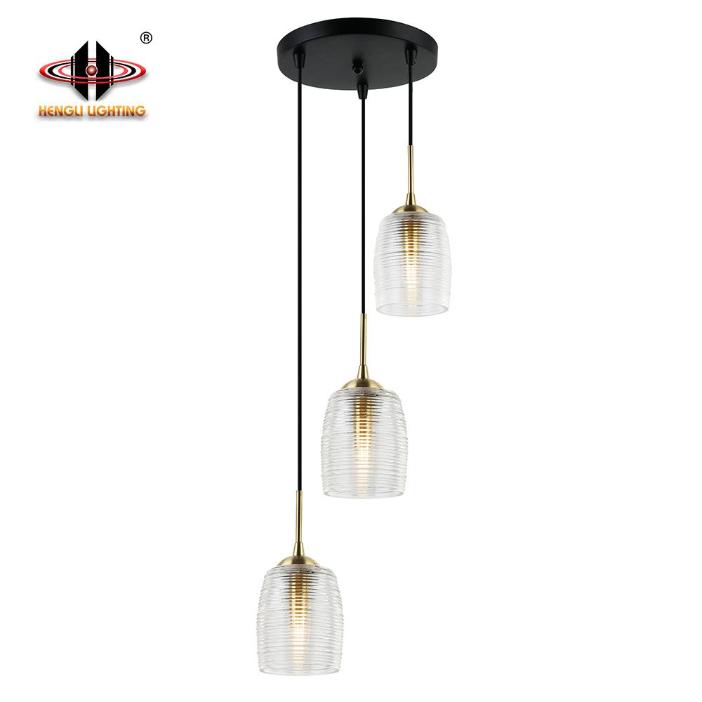 Hot Item Black Sandy Gold Modern Pendant Lighting For Living Room And Hotel