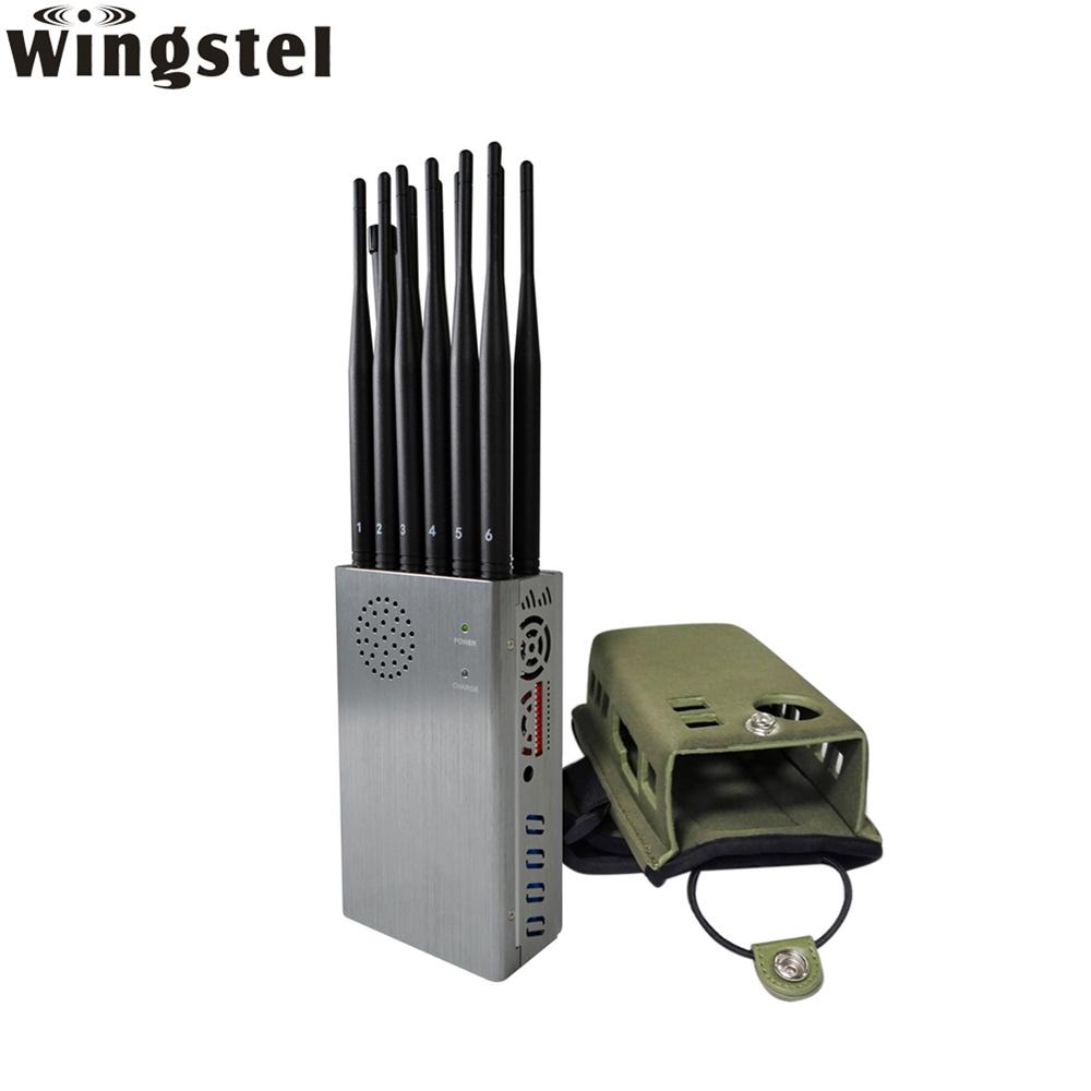 [Hot Item] Factory Price 12 Antennas 4G Lte Cellphone Jamming GSM CDMA GPS  WiFi RC Car Mobile Phone Signal Jammer