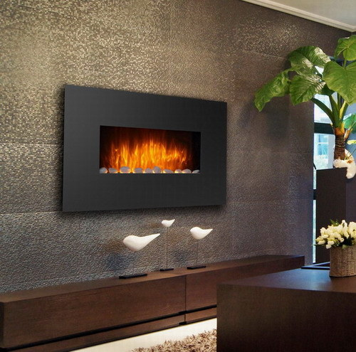 China Wall Mounted Led Electric Fireplace With Heat