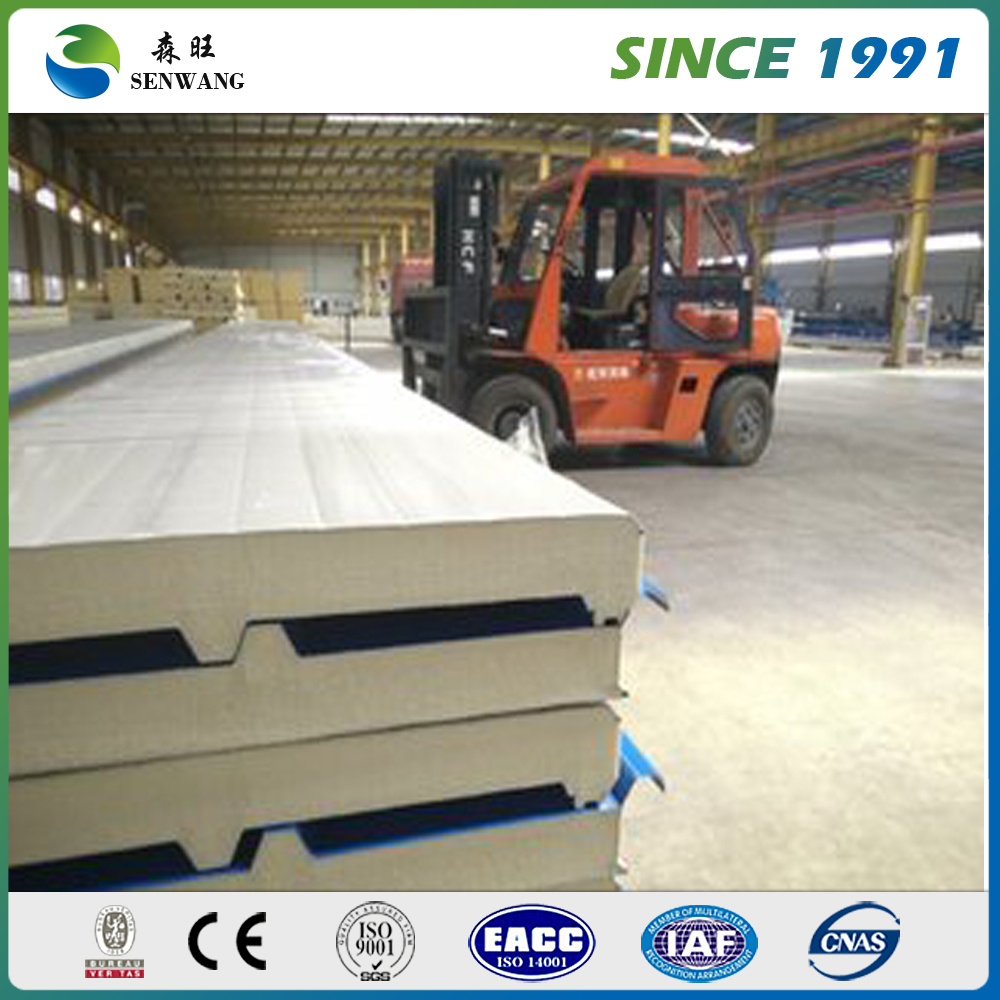 Over 26 Years Experience Corrugated Polyurethane PU Sandwich Panel