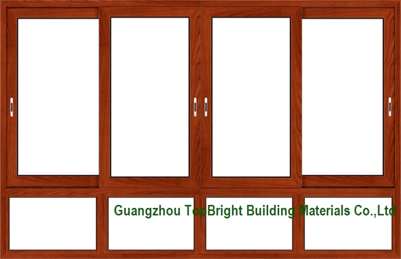 China Wood Clad Aluminum Sliding Windows Frames Designs