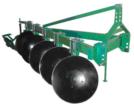 Tractor Mounted Disk Plow/Plough (1LY-525)