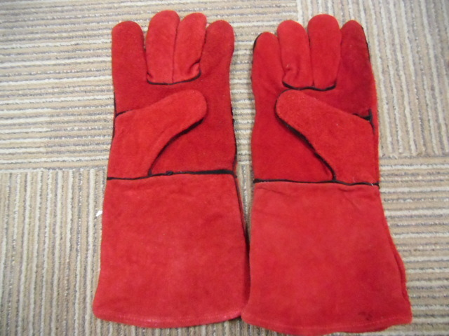 Ddsafety 2017 Red Cow Split Welding Gloves pictures & photos