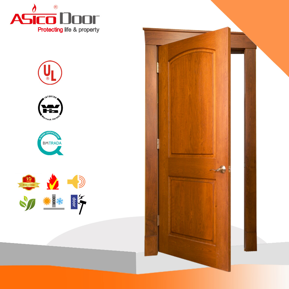 China Flush Bedroom Wooden Single Main Door Design with High Quality ...