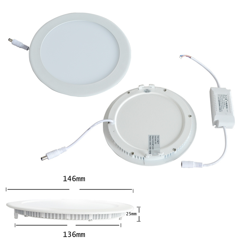 China Battery Operated Led Ceiling Light 6 12w Downlight Panel Fixture 6000k White Free Shipping