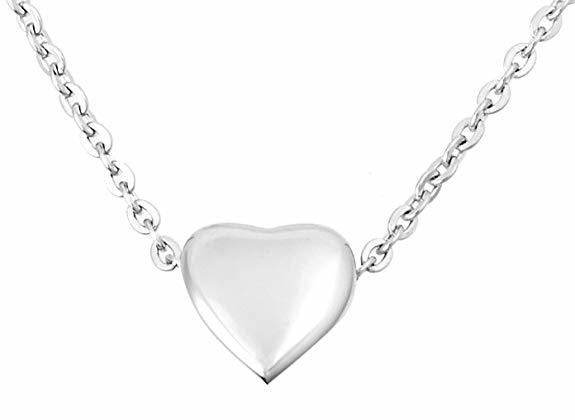 China Small Elegant Heart Charm Necklace Locket Jewelry Keepsake