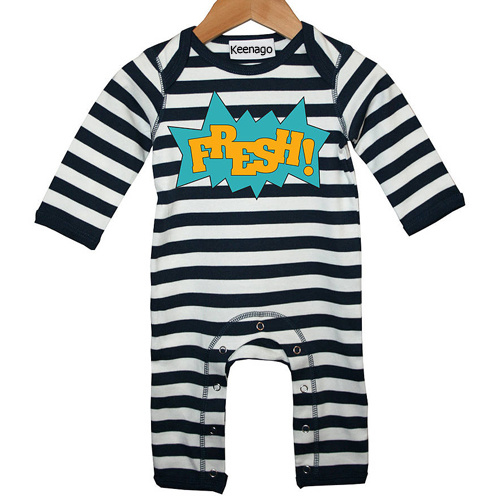 Black and White Stripes Newborn Baby Footie Pajamas