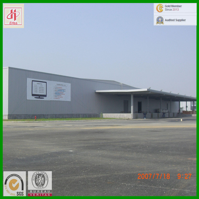 Prefabricated Steel Structure Workshop with SGS Standard (EHSS009) pictures & photos
