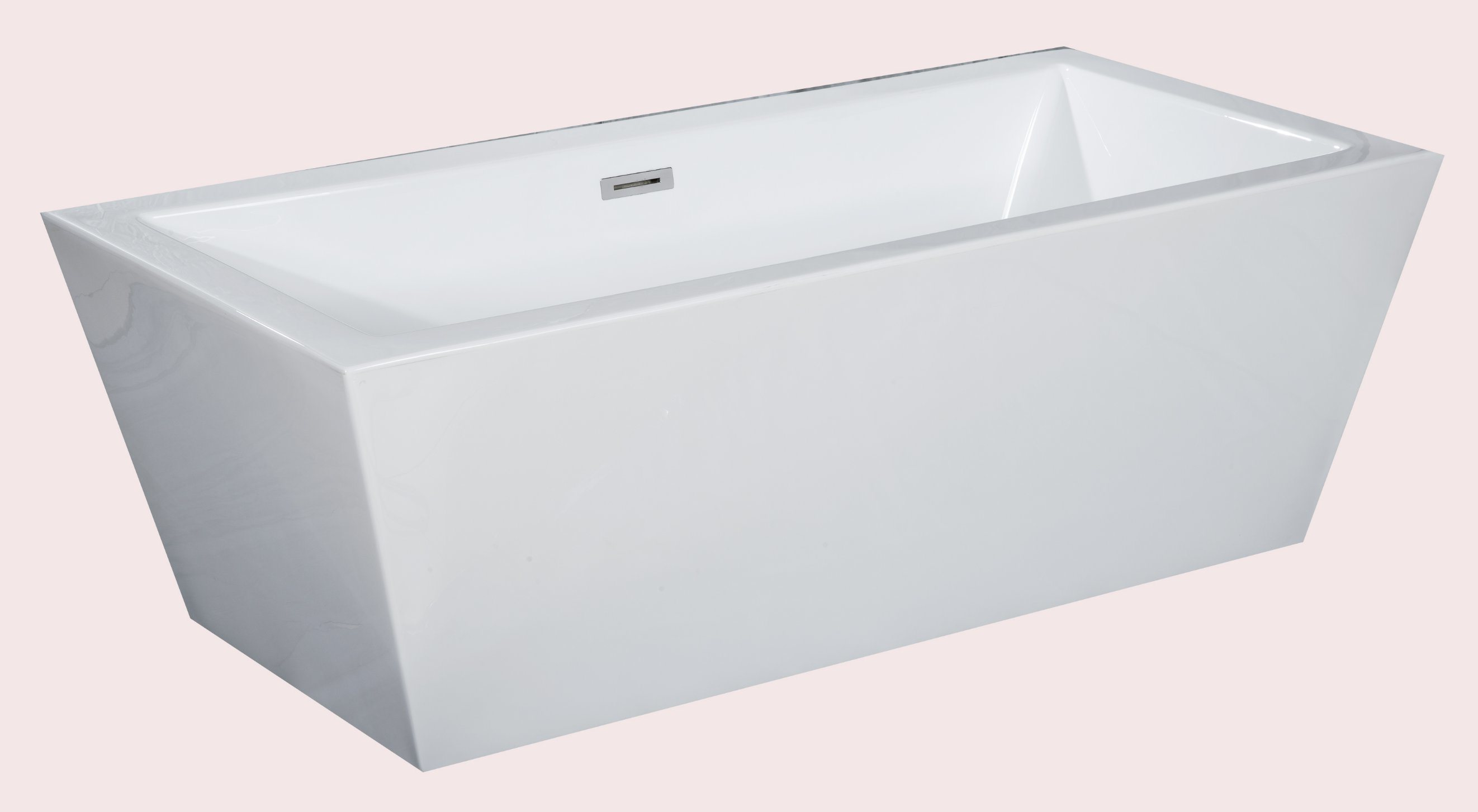 China Classic American Standard Square Soaking Freestanding Tub ...