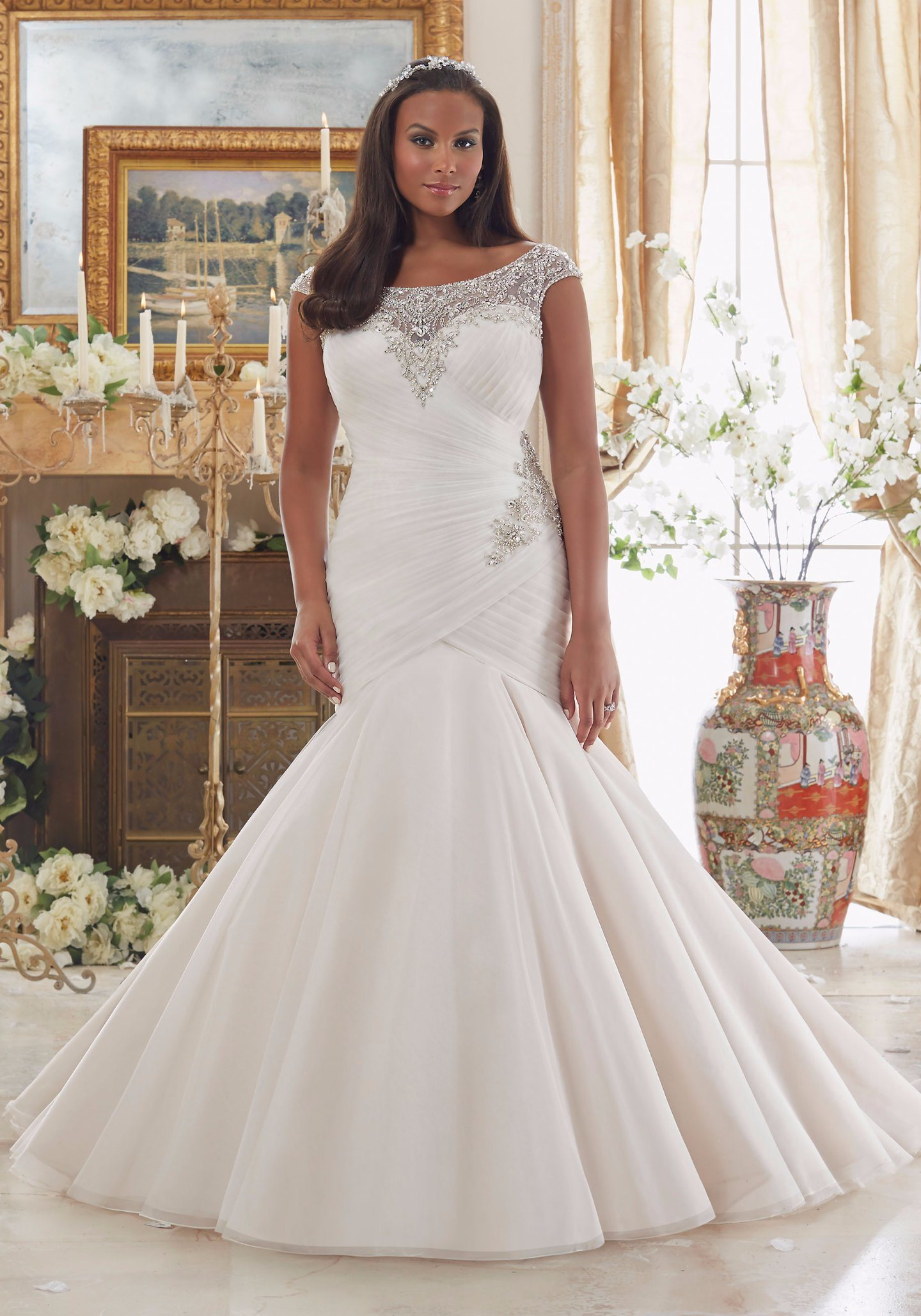 abf62a460d5 Plus Size Off The Shoulder Mermaid Wedding Dress